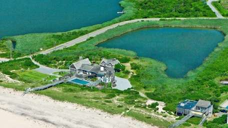 This 30-plus-acre Sagaponack estate, which includes an agricultural
