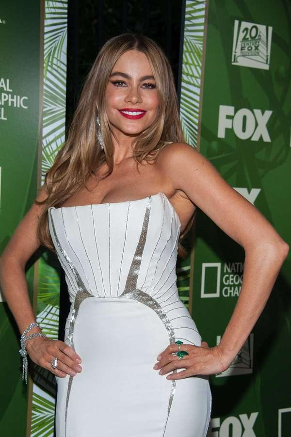 Actress Sofia Vergara at the Emmy Awards on