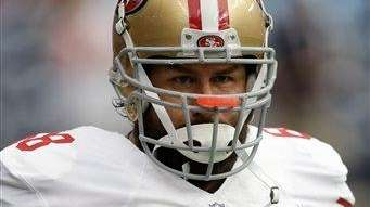 The San Francisco 49ers' Adam Snyder (68) looks