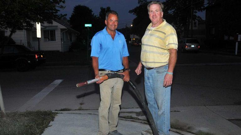 From left: Kevin Arsenault, 59, of Jackson, N.J.,