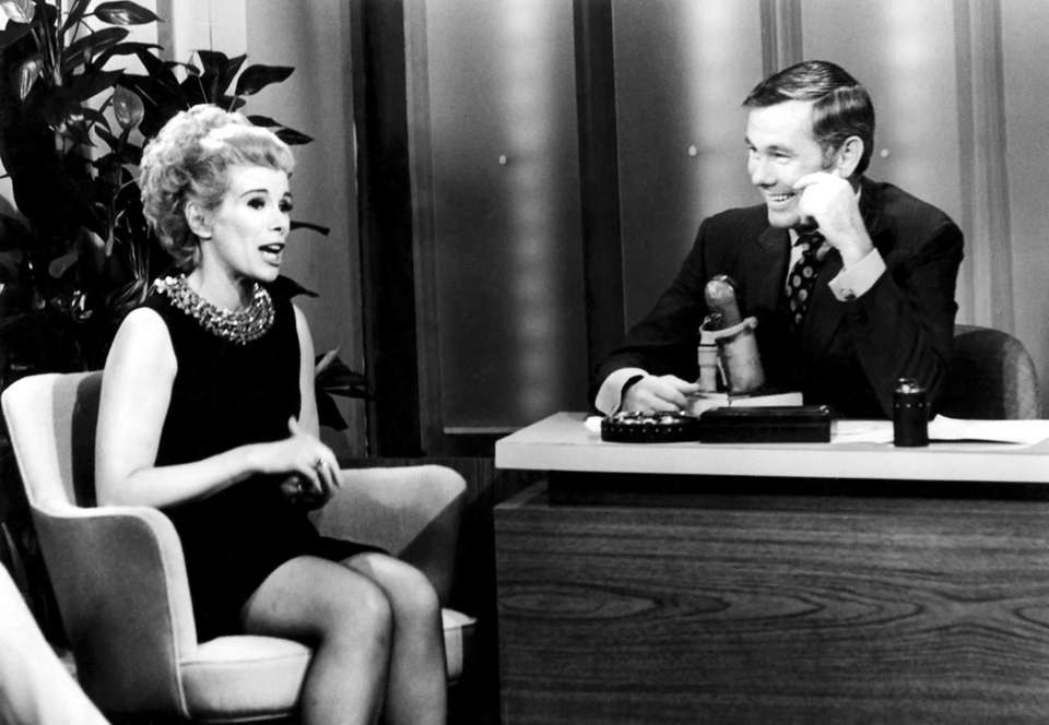 Joan Rivers and host Johnny Carson during