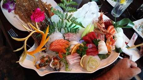 A special order sashimi plate at the new