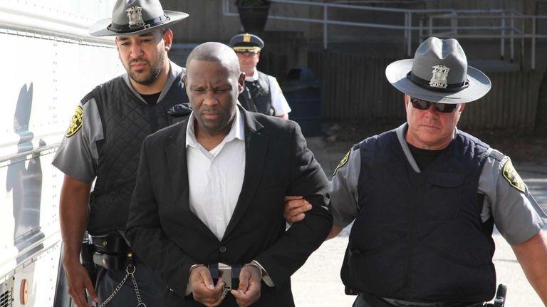 Darrell Fuller arrives at court in Mineola Friday,