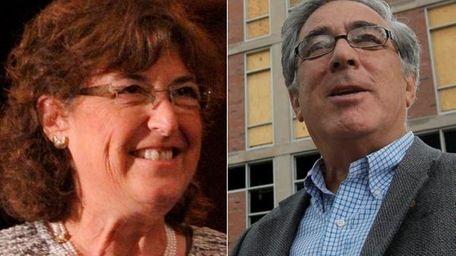 Jane Glazer, left, and husband Larry Glazer, were