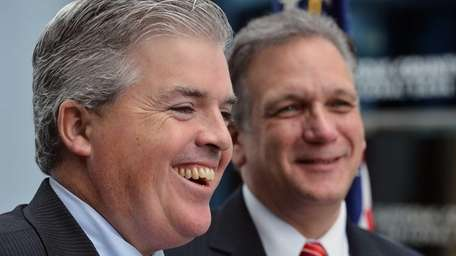 Suffolk County Executive Steve Bellone and Nassau County