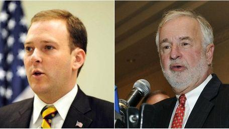 Republican state Sen. Lee Zeldin, left, is challenging