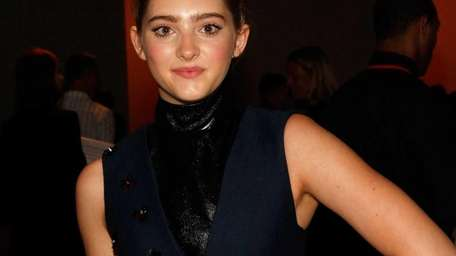 Actress Willow Shields attends the Peter Som fashion
