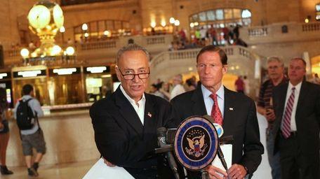 Sen. Charles Schumer and Sen. Richard Blumenthal, of
