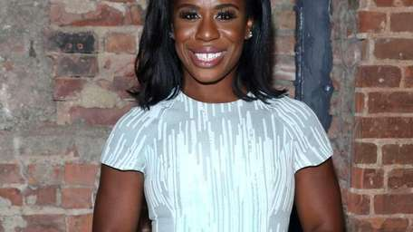Emmy Award-winning actress Uzo Aduba backstage at the