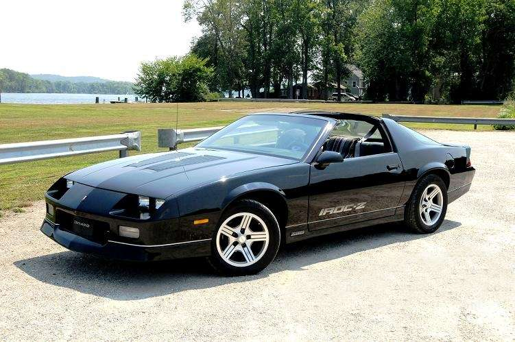 The 1985 Chevrolet Camaro IROC-Z owned by Rachel