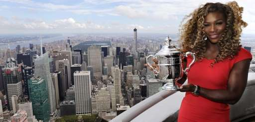 Serena Williams holds the U.S. Open tennis women's