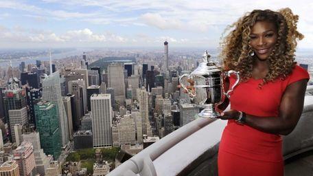 Serena Williams holds the U.S. Open tennis women's