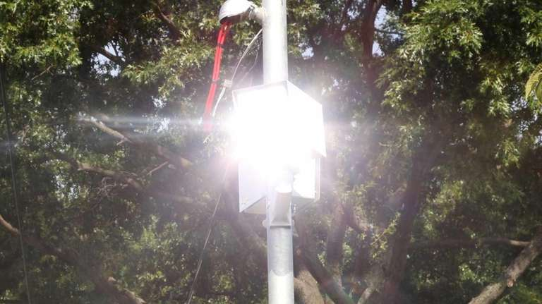 This file photo shows a speed camera on