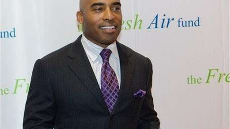 Tiki Barber arrives at The Fresh Air Fund