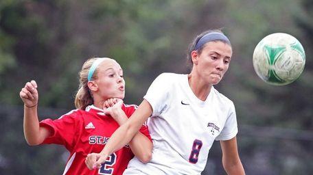 South Side's Alexandra McNicholas keeps the ball away