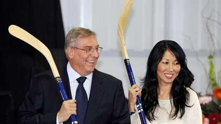 Buffalo Sabres owners Terry and Kim Pegula are
