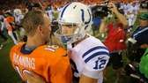 Denver QB Peyton Manning and Indianapolis QB Andrew