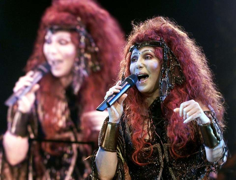 Cher performs in Hamburg on Oct. 26, 1999.