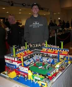 Last year's winner of the Lego Building Contest