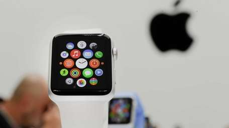 The Apple Watch is displayed after its introduction