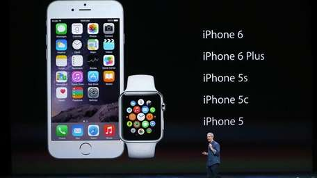 Apple CEO Tim Cook unveils the Apple Watch