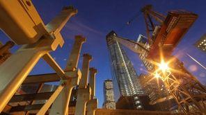 """Rebuilding The World Trade Center"": A crane in"