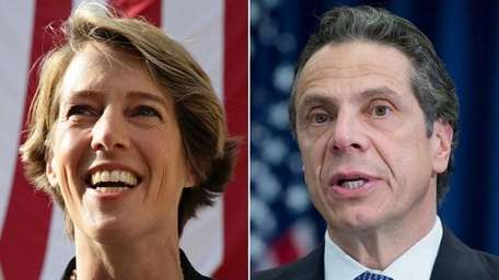 Gov. Andrew M. Cuomo, right, outperformed Democratic primary