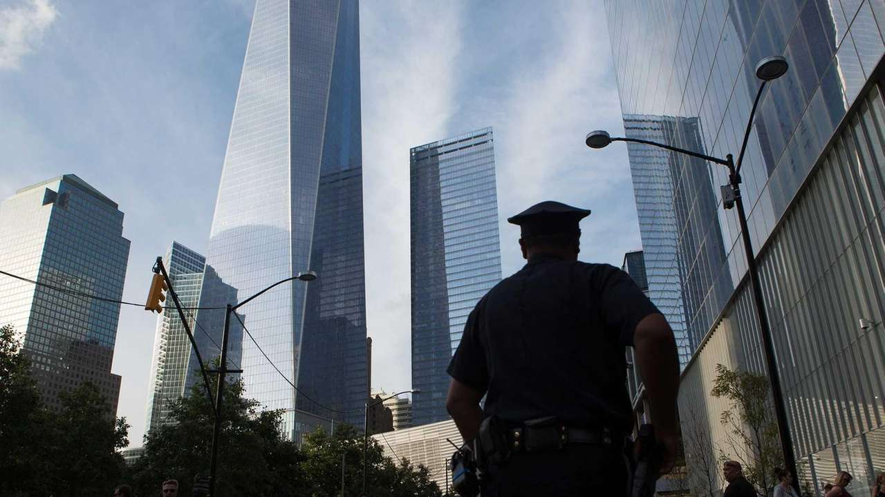 NYPD officers were stationed near the Sept. 11