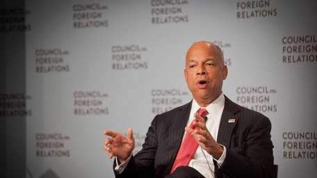 Secretary of Homeland Security Jeh Johnson delivers remarks