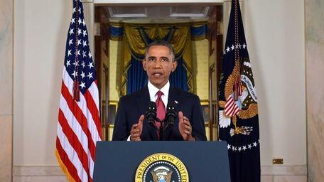 President Barack Obama addresses the nation from the