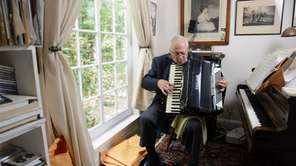 Angelo DiPippo plays his Excelsior accordion -- the