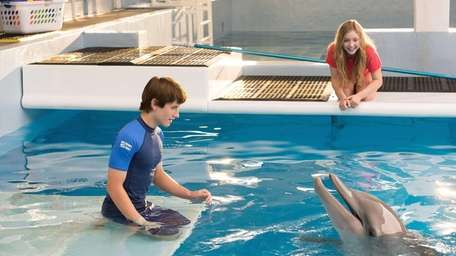 From left, Nathan Gamble as Sawyer Nelson and