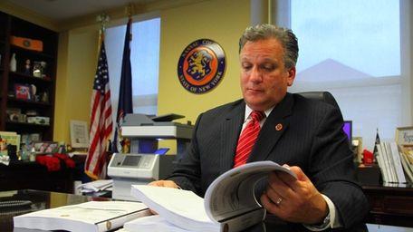 Nassau County Executive Edward Mangano in 2012. Mangano