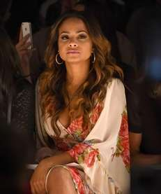 Christina Milian attends the Betsey Johnson fashion show