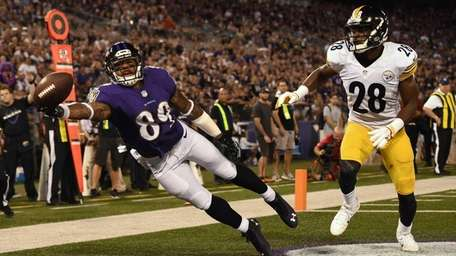 Wide receiver Steve Smith of the Baltimore Ravens