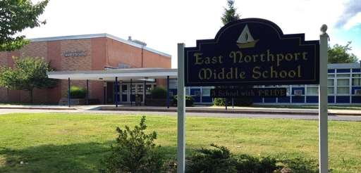 East Northport Middle School, on Fifth Avenue, in