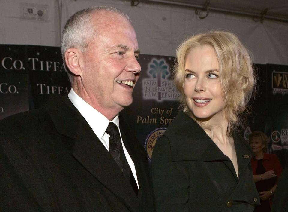 Nicole Kidman and her father, Antony Kidman, arrive