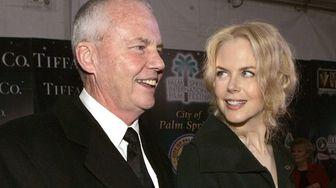 Nicole Kidman and her father, Antony Kidman, arrive