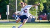 Cold Spring Harbor's Caitlin Hooks kicks the ball