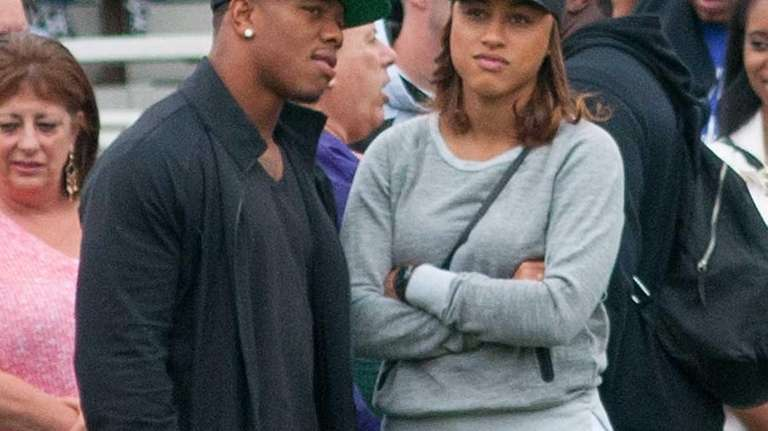Ray Rice and wife Janay attend a New