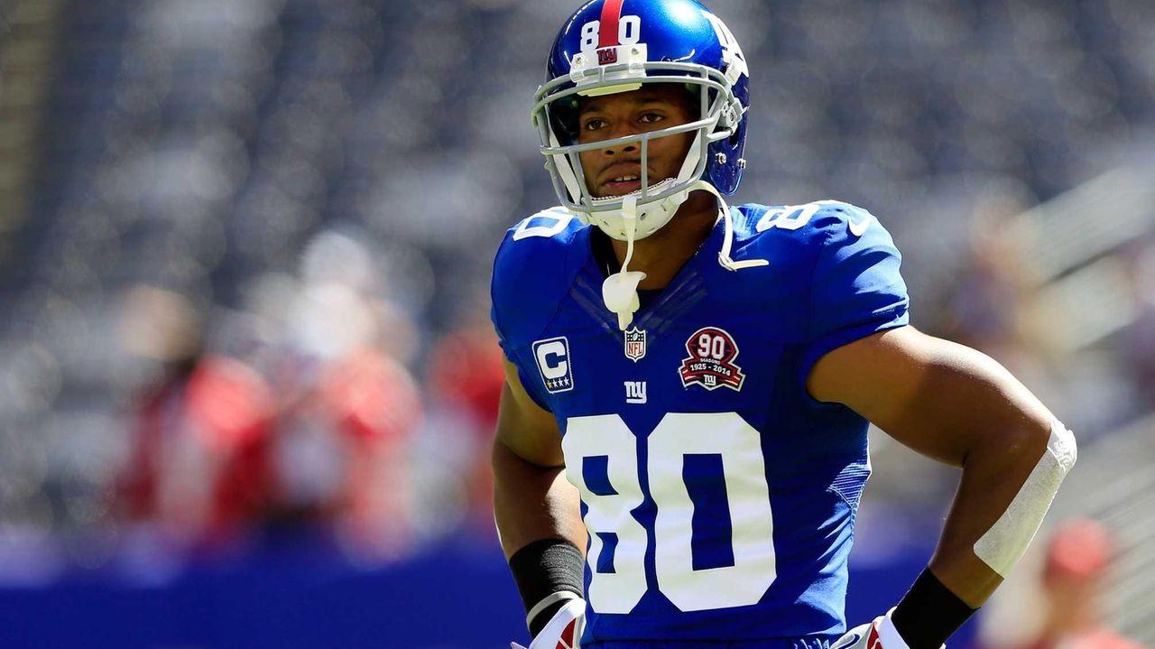 Wide receiver Victor Cruz #80 of the Giants