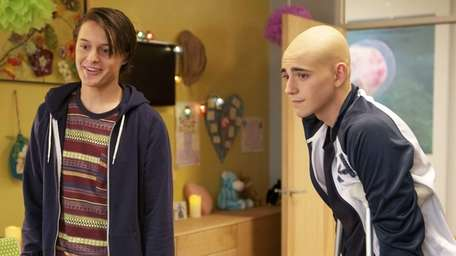 From left, Nolan Sotillo and Charlie Rowe in