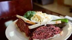 The warm, peppery pastrami sandwiches at Pastrami Plus