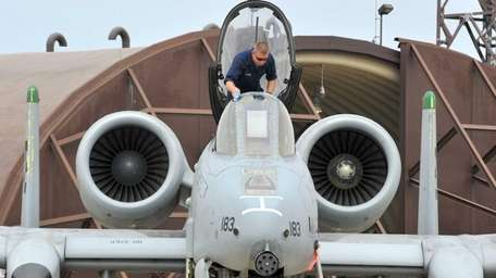An A-10, known as a Warthog, participates in