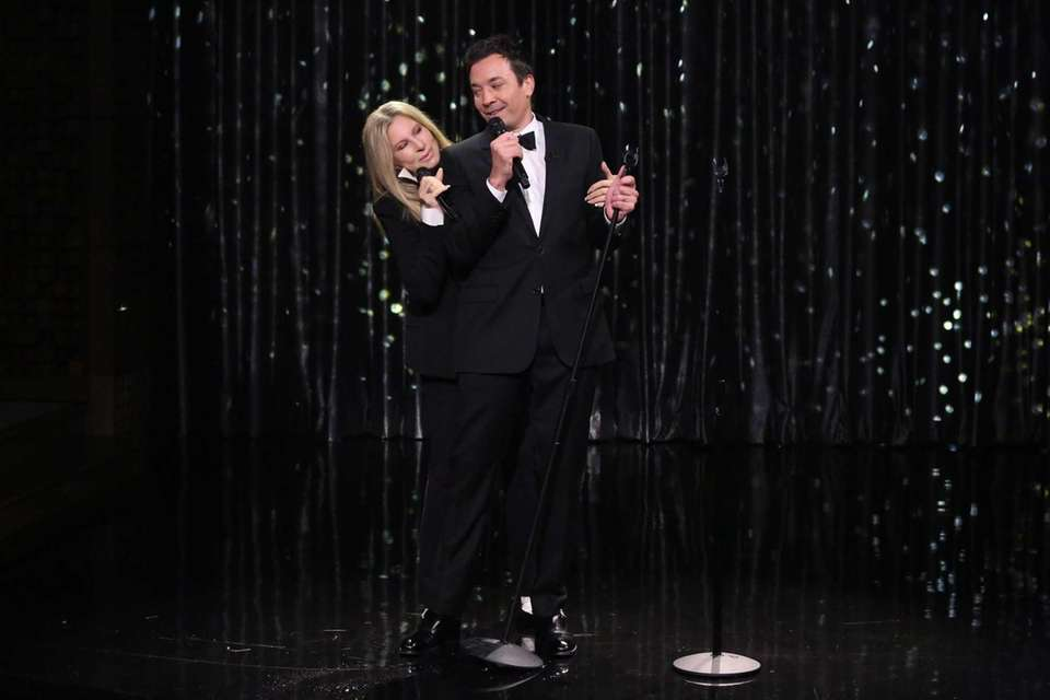 Jimmy Fallon and Barbra Streisand sing a duet