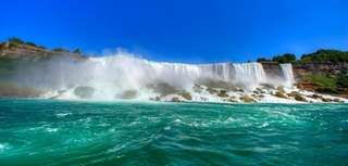 Niagara Falls, on the border of the United