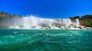 Niagara Falls, on the border of the United