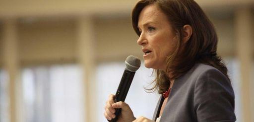 Nassau County District Attorney Kathleen Rice speaks on