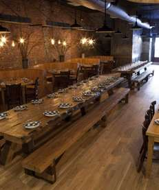Grab a spot at Paulaner's massive dining hall