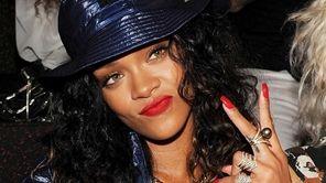 Singer Rihanna attends the Alexander Wang fashion show